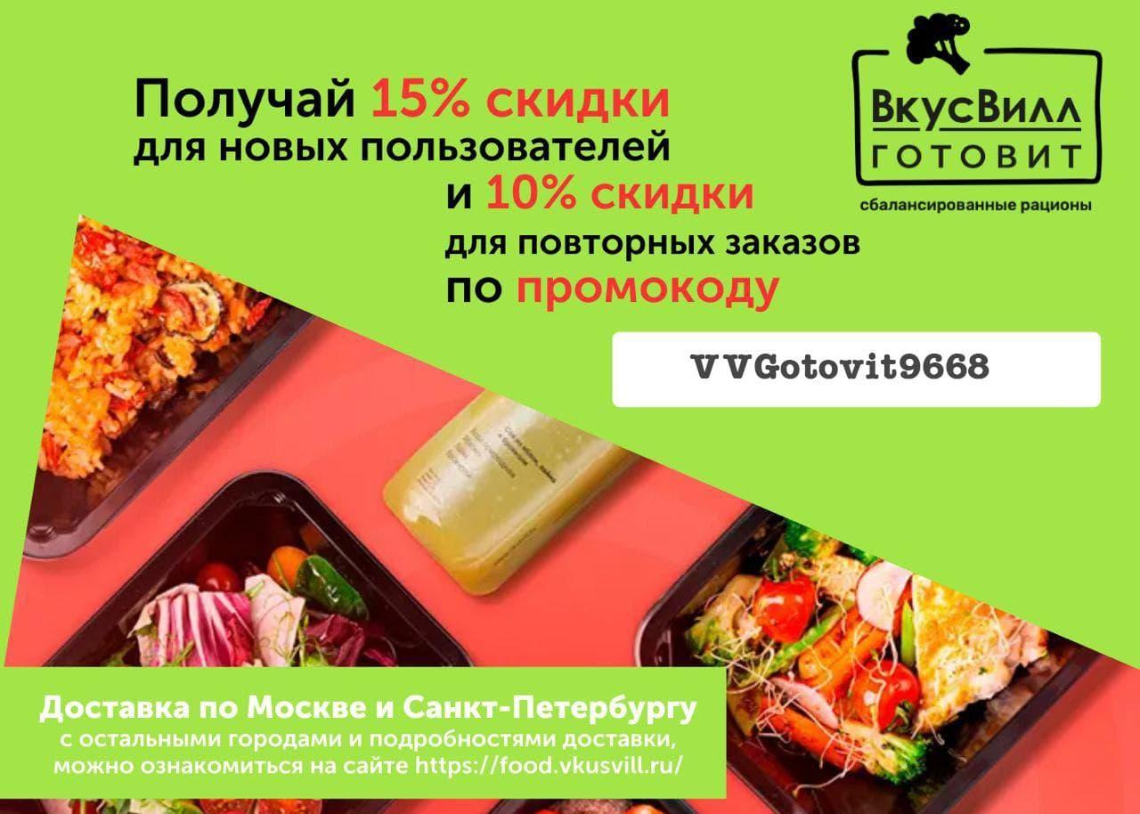 Акции в сервисах доставки готового питания