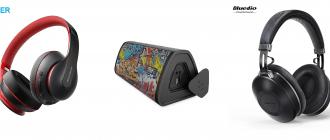Подборка Bluetooth-наушники и Bluetooth-колонок с распродажи «Охота на тренды» на AliExpress