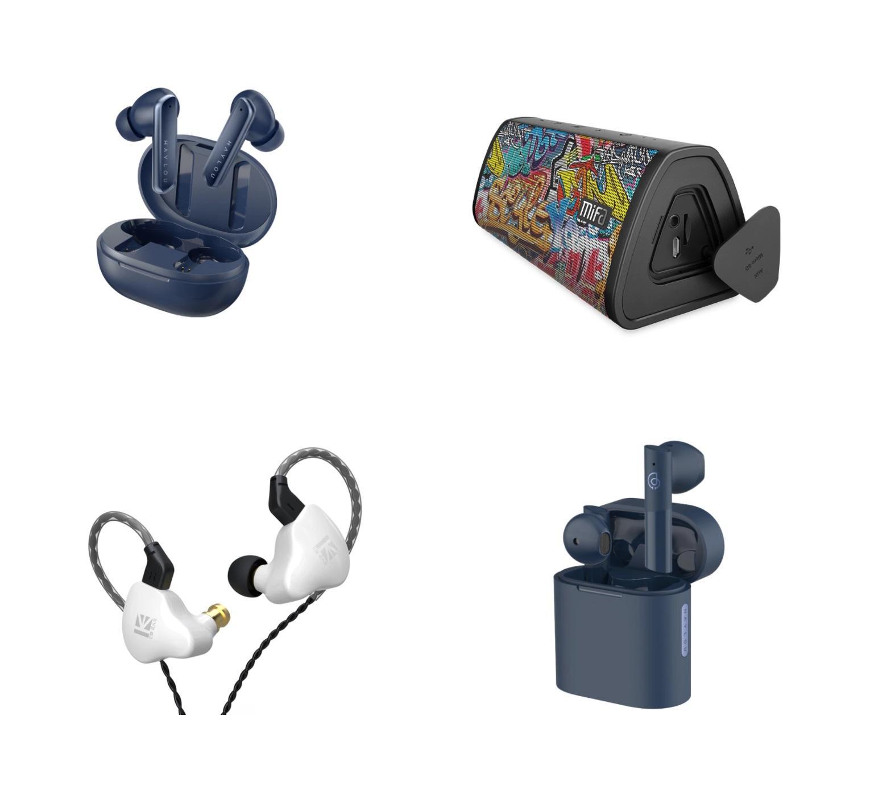 Подборка TWS наушников, Bluetooth колонка и наушники со съемным проводом с Али